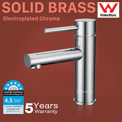 AU26.45 • Buy Bathroom Basin Mixer Tap Sink Vanity Faucet Cylinder Chrome Round WELS 6 Stars