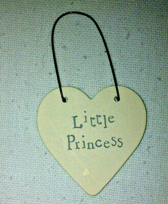 £2.99 • Buy Chic East Of India Little Wooden Heart Signs And Tags - Little Princess