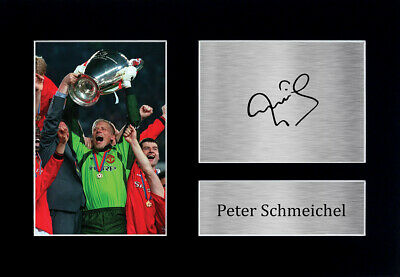 Peter Schmeichel Signed A4 Framed Printed Autograph Manchester United Print Gift • 19.99£