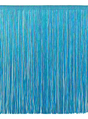 Turquoise Blue 12  Chainette Fringe Trim Saphire Seas [By The Yard] • 5.97£