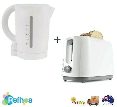 AU44.95 • Buy White 2 Slice Toaster And 1.7L Cordless Kettle Set Brand NEW