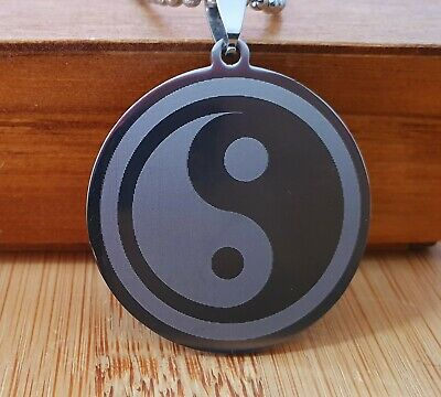 AU8.99 • Buy Ying Yang Stainless Steel Necklace Pendent