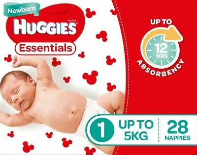 AU37.50 • Buy Huggies Essential Nappies - New Born Size (Stage 1)