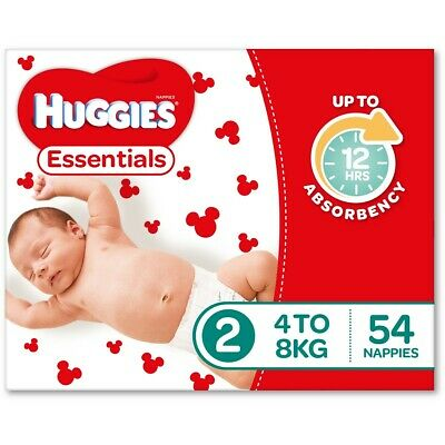 AU58 • Buy Huggies Essential Nappies - Infant Size (Stage 2)