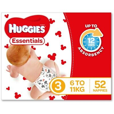 AU58 • Buy Huggies Essential Nappies - Crawler Size (Stage 3)