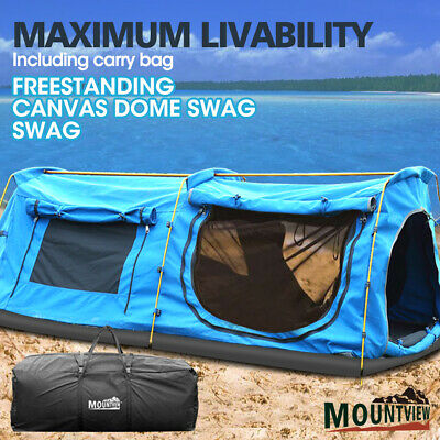 AU229.99 • Buy Mountviewe Dome Camping Swag Swags Mattress Canvas Tent Kings Hiking Daddy Bags