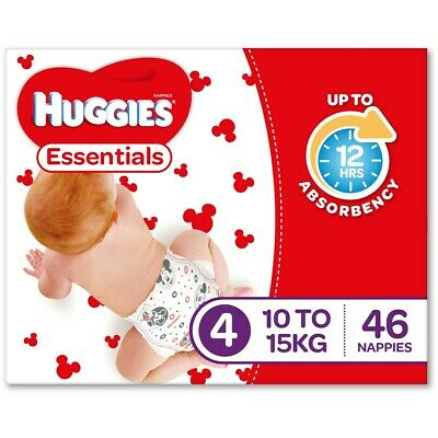 AU58 • Buy Huggies Essential Nappies - Toddler Size (Stage 4)