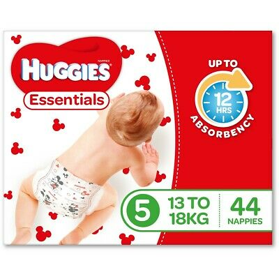 AU58 • Buy Huggies Essential Nappies - Walker Size (Stage 5)