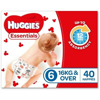 AU58 • Buy Huggies Essential Nappies - Junior Size (Stage 6)