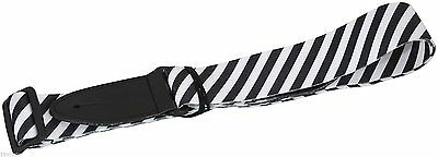 Acoustic Or Electric Guitar Strap Kids Children Black & White Stripes Sale Offer • 4.99£