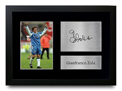 Gianfranco Zola Signed Pre Printed Autograph Photo Gift For A Chelsea Fan • 8.99£