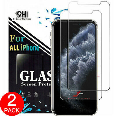 AU3.99 • Buy 2x For IPhone 12 11 Pro XS Max XR X 6 7 8 Plus Tempered Glass Screen Protector