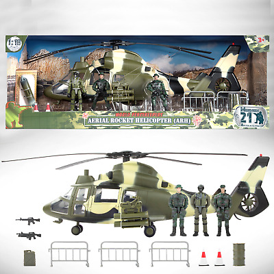 $62.53 • Buy World Peacekeepers Aerial Rocket Army Military Helicopter (ARH) Toy & 3 Figures
