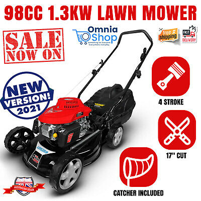 AU293.97 • Buy NEW Lincoln L17D 1.3kW (17 ) Petrol Lawn Mower 4 Stroke Engine Soft Grip Handle