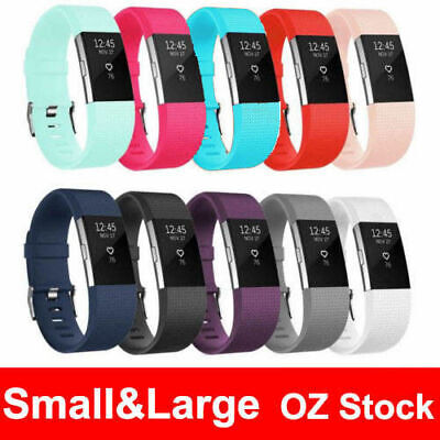 AU4.50 • Buy Silicone Watch Wrist Sports Strap For Fitbit Charge 2 Band Wristband Replacement