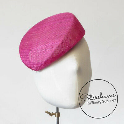 £9 • Buy 'Betty' Sloped Pillbox Sinamay Fascinator Hat Base For Millinery & Hat Making