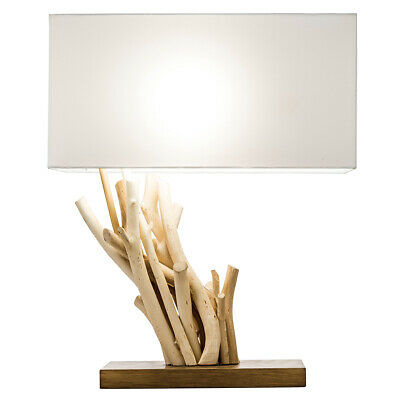 £75.97 • Buy New! Driftwood Angle Table Lamp - 19  Natural Wood Nightstand/end Table Light