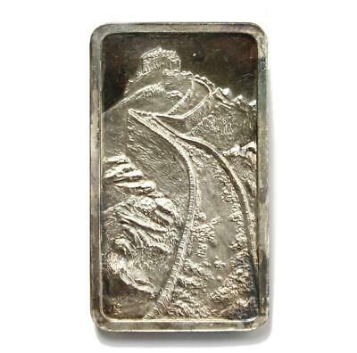 $ CDN135 • Buy .999 Silver Bar Great Wall Of China S#43 Jacques Cartier Mint 1974 Over 2oz