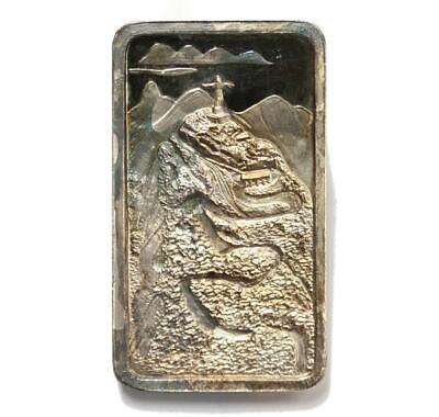 $ CDN135 • Buy .999 Silver Bar Corcovado Statue Of Christ S#43 J.Cartier Mint 1974 Over 2oz