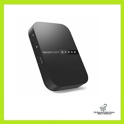 AU90 • Buy RAVPower FileHub Wireless Travel Router AC750 Portable SD Card HDD Backup