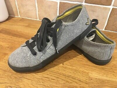 BOYS VOI JEANS GREY PUMP SHOES SIZE 5.5 Vgc  • 9.50£