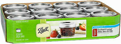 Quilted Glass Jelly Jars With Closures, 4-oz., 12-Pk • 23.99$