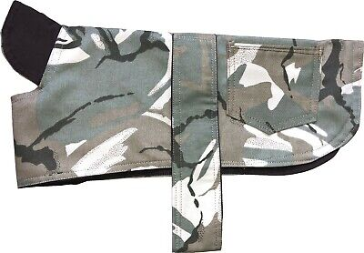 Dog Coat Jacket Cotton Camo Camouflage Showerproof Hook And Loop Straps  Puppy • 4.95£