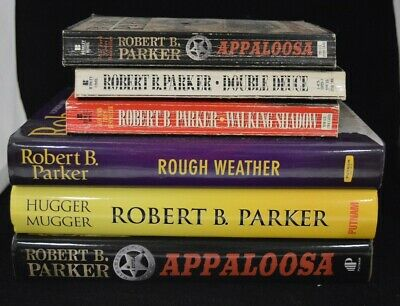 Robert B. Parker Book Lot Of 6 - Rough Weather, Hugger Mugger, Appaloosa & More • 13.02£