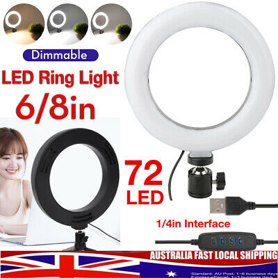 AU14.69 • Buy 6/10  LED Ring Fill Light Dimmable Photography Studio Photo Make Up Video  Lamp