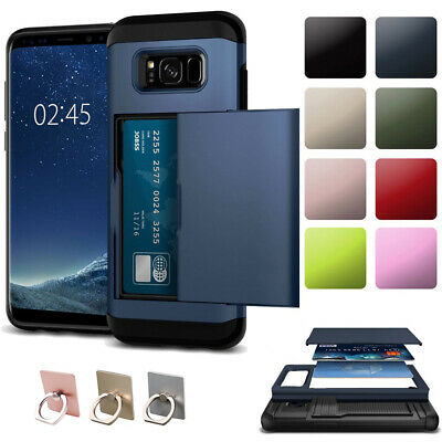 $ CDN6.74 • Buy For Samsung Note 9 8 5 4 S9 S8 S7 S6 Edge Case TPU Armor Wallet Card Slot Cover