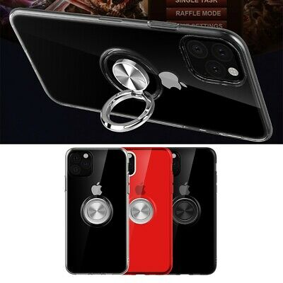 AU6.95 • Buy IPhone 12 11 Pro Max Xs XR 7 8 SE Plus Magnetic TPU Ring Holder Stand Slim Case