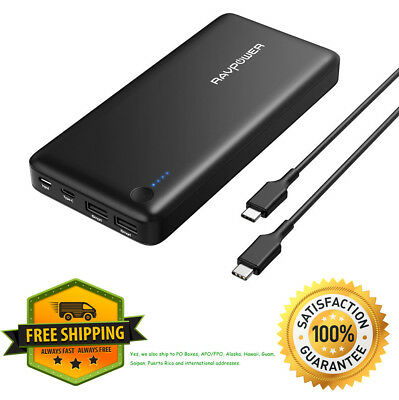 AU130.39 • Buy USB C Power Bank RAVPower 26800 PD Portable Charger 26800mAh (Fast Recharged