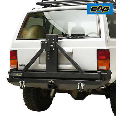 $645.99 • Buy EAG Rear Bumper With Tire Carrier & 2 Hitch Receiver Fit 84-01 Jeep Cherokee XJ