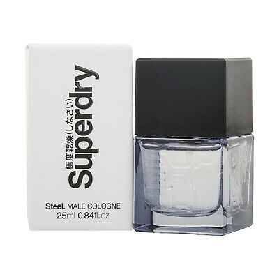 Superdry Steel Male Cologne 25ml Spray For Him • 13.99£