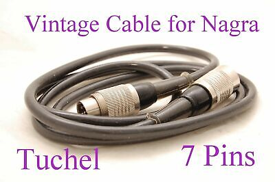 Vintage Original Nagra Cable Tuchel Male – Tuchel Female - 1 Meter • 105.12£