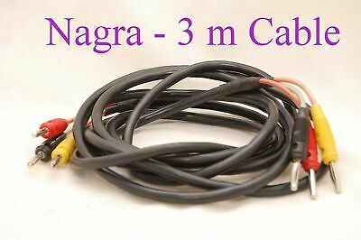 Vintage Original Nagra Cable 3xBanana – 3xBanana 3 Meters • 210.94£