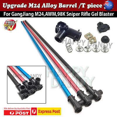 AU9.98 • Buy 50cm Alloy Inner Barrel + T Piece Metal Tube Upgrade GJ M24 AWM 98k Gel Blaster