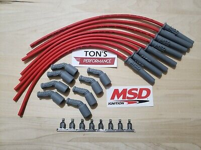 $79.99 • Buy 16  MSD 8.5mm LSX LS1 Swap Unassembled Multi Angle Spark Plug Boots Wires RED