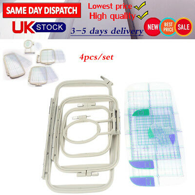 Embroidery Frame Hoops Set For Brother Innovis BabylockSewing Machine Parts 4pcs • 22.99£