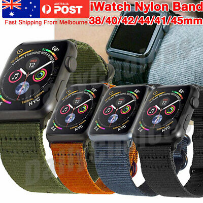 AU15.47 • Buy For Apple Watch Series 5/4/3/2/1 Band Army Nylon Watch Strap Sports IWatch Band