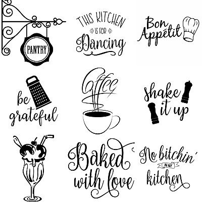 Wall Art Stickers For Kitchen, Removable Home Decor, Quality Vinyl Decal Quotes • 4.99£