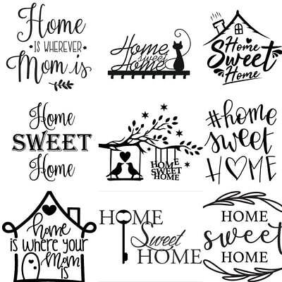 Wall Art Stickers For Home Sweet, Removeable Decor, Quality Vinyl Decal Quotes • 4.99£