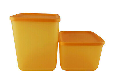 AU19.99 • Buy TUPPERWARE Yellow So Fresh Fridge Container 1.0L & 1.8L (2) Limited Release Set