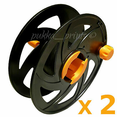 £14.49 • Buy 2 X Cable Reel Drum Empty Spool Cables Leads Wire Rope Lights Filament Storage