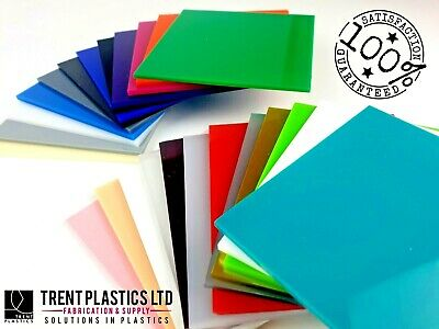 3mm Colour Perspex Acrylic Sheet Plastic Panel 55 DIFFERENT COLOURS A5 A4 A3 • 4.82£