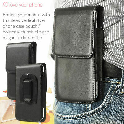 AU7.31 • Buy Black✔Quality Leather Excellent Protection Vertical Belt Phone Pouch Case Cover
