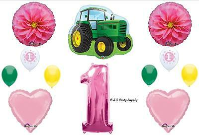 AU32.74 • Buy 1st First BIRTHDAY PARTY BALLOONS John Tractor Deere-like Decorations Supplies
