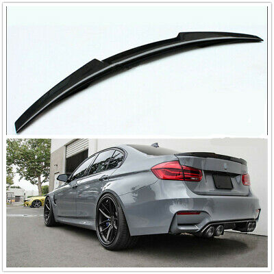 $95.99 • Buy Rear Roof Trunk Spoiler Wing Carbon Fiber Style Fits BMW E90 325i 330i 335i M3