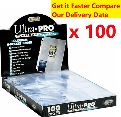 AU37.90 • Buy 100 X ULTRA PRO PLATINUM SERIES 9 POCKET CARD SLEEVES PAGES SEALED BOX AFL MTG