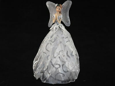 25cm Silver Christmas Angel / Fairy - Ornament Or Tree Topper Decoration • 9.99£